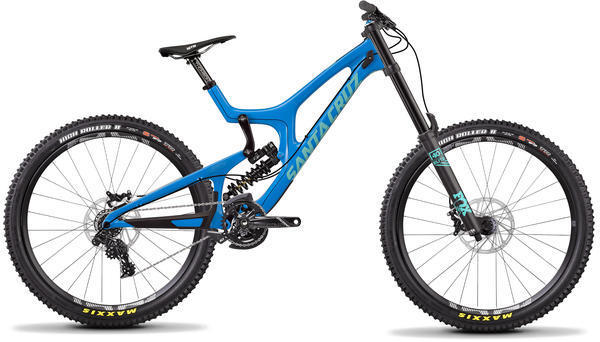 Santa Cruz V10 C S Color: Gloss Blue/Mint