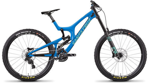Santa Cruz V10 DH S Carbon C Color: Gloss Blue and Mint