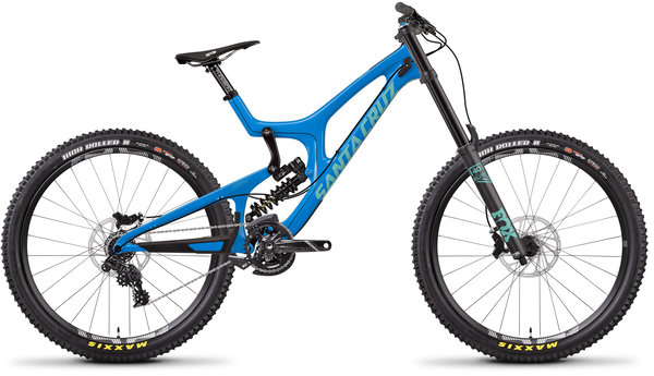 Santa Cruz V10 Carbon C S Color: Gloss Blue and Mint