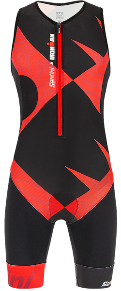 Santini Santini Ironman Cupio Men's Sleeveless Triathlon Suit Color: Black/Red