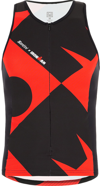 Santini Santini Ironman Cupio Men's Triathlon Top Color: Black/Red