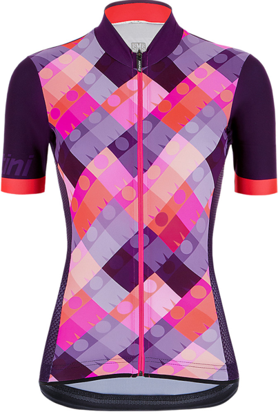 Santini Santini Ironman Dea Women's Cycling Jersey Color: Dark Purple/Dark Pink