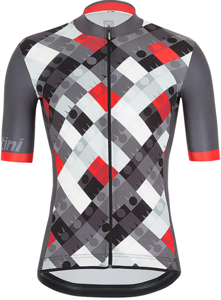 Santini Santini Ironman Vis Men's Cycling Jersey Color: Grey/White