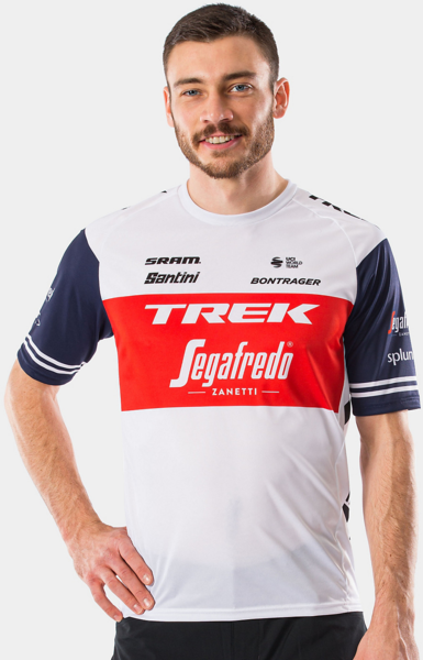 Santini Santini Trek-Segafredo Men's Team Tech Tee Color: Dark Blue