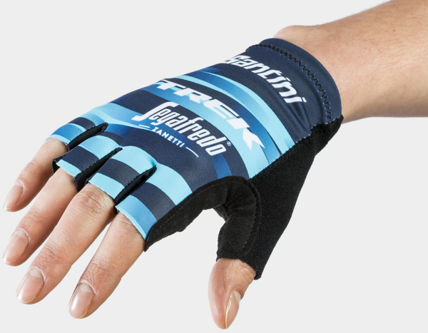 Santini Santini Trek-Segafredo Women's Team Cycling Glove Color: Dark Blue/Light Blue