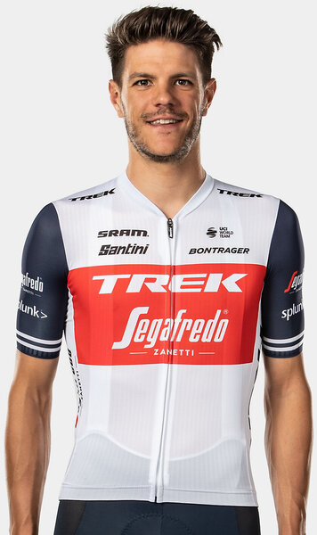 Santini Trek-Segafredo Team Jersey Color: White/Dark Blue