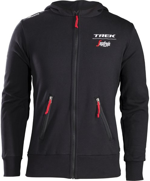 Santini Trek-Segafredo Team Lifestyle Hoodie Color: Black/White