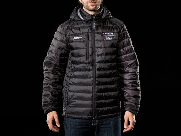 Santini Trek-Segafredo Team Lifestyle Jacket Color: Black/White