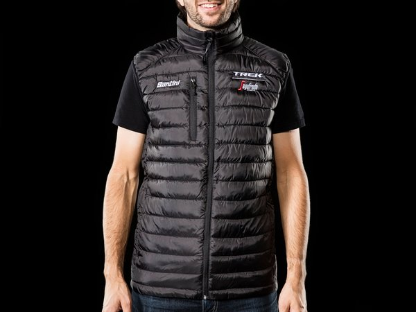 Santini Trek-Segafredo Team Lifestyle Vest Color: Black