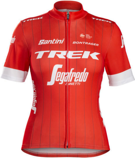 Santini Trek-Segafredo Women's Team Replica Cycling Jersey Color: Red