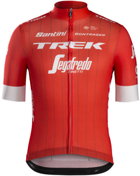 Santini Trek-Segafredo Men's Team Replica Cycling Jersey Color: Red