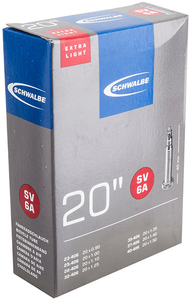 Schwalbe 20-Inch Presta Valve Tube (Extra Light Casing)