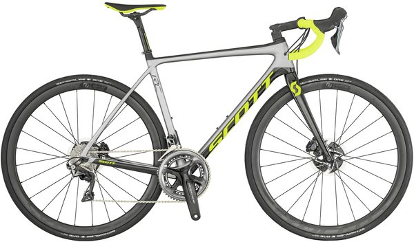 Scott Addict RC Pro Disc Color: Silver/Black/Green