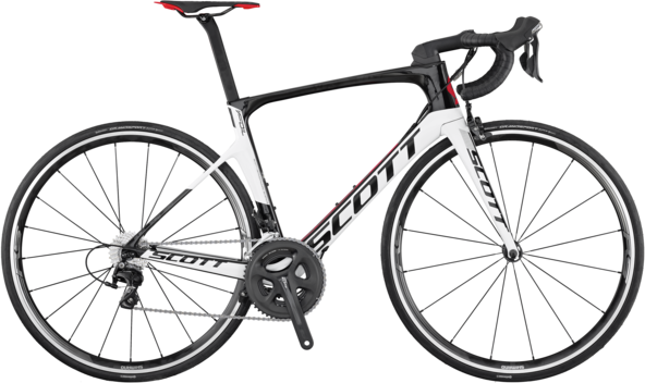 Scott Foil 30 Color: Black/White/Red