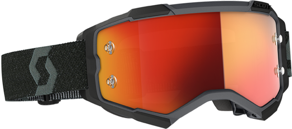 Scott Fury Goggle Color | Lens: Black | Orange Chrome Works|Clear