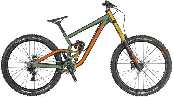 Scott Gambler 710 Color: Green/Orange