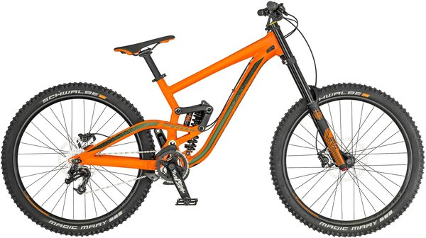 Scott Gambler 730 Color: Orange/Green