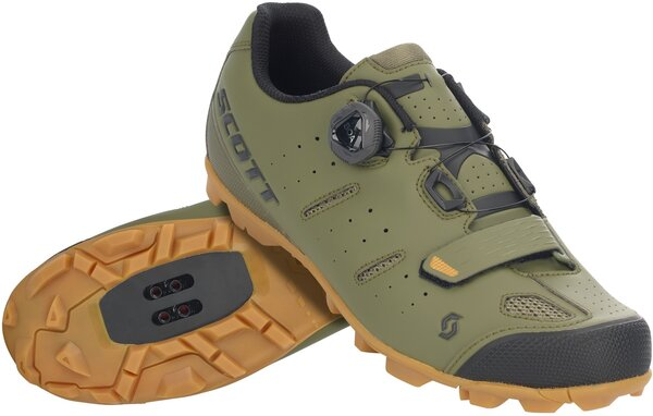 Scott MTB Elite BOA Shoe Color: Green Moss/Black