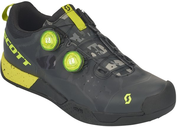Scott MTB AR BOA Clip Shoe Color: Black/Sulphur Yellow