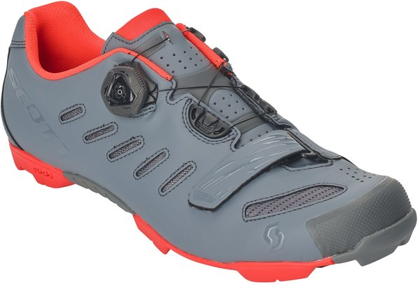 Scott MTB Team BOA Shoe Color: Cool Grey/Neon Orange