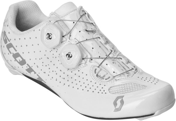 Scott Road RC Lady Shoe Color: Gloss White/Silver