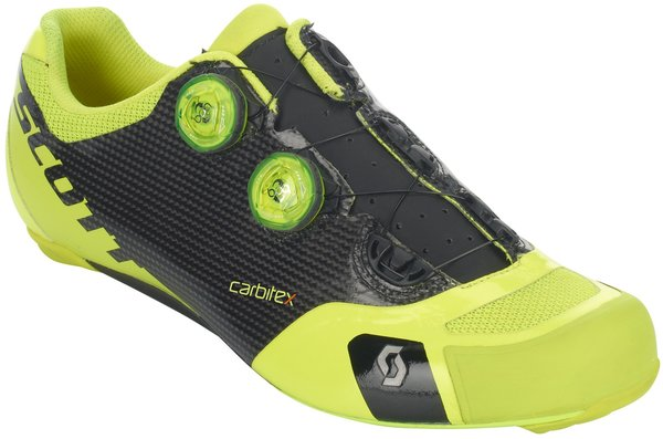 Scott Road RC SL Shoe Color: Black/Neon Yellow