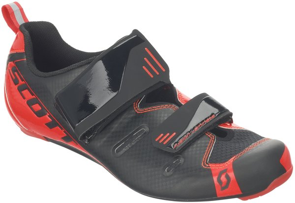Scott Road Tri Pro Shoe Color: Black/Neon Red Gloss