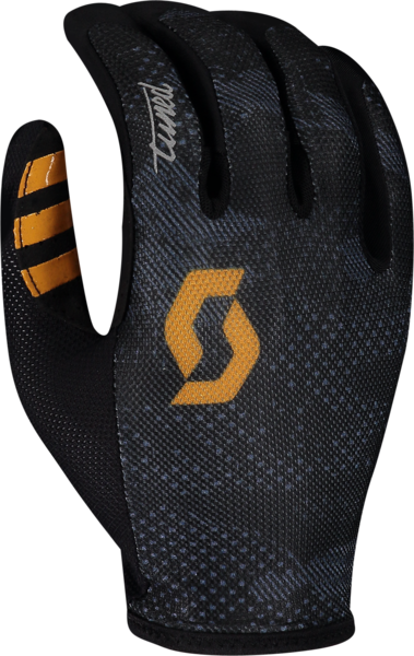 Scott Traction Tuned LF Glove Color: Black/Amber Yellow