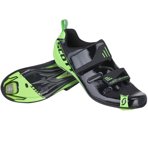 Scott Tri Pro Shoe Color: Black/Neon Green