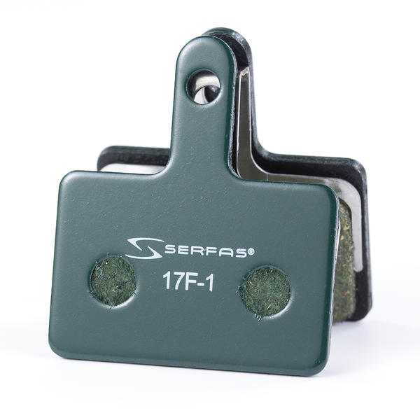Serfas DBPS1E Shimano Deore Mechanical BR-M515 E-Bike Compound Disc Brake Pads Color: Green