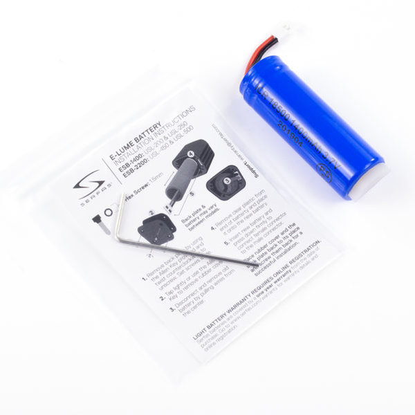 Serfas E-Lume Series Headlight Replacement Battery Model: 1400mAh (USL-250)
