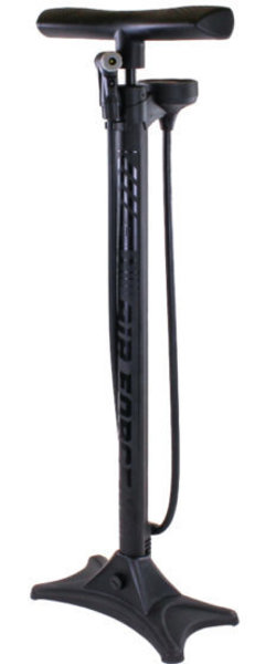 Serfas FP-T3 AIR FORCE TIER THREE Floor Pump Color: Black/Black