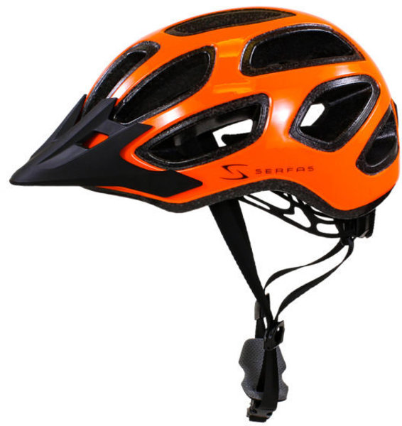 Serfas HT-600/604 Incline Enduro Helmet Color: Gloss Serfas Orange