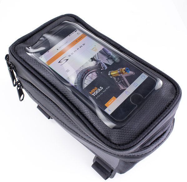 Serfas LT-STM5 Waterproof Cell Phone Top Tube Bag Color: Black