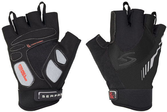 Serfas RSM RX Men's Short Finger Gloves Color: Black