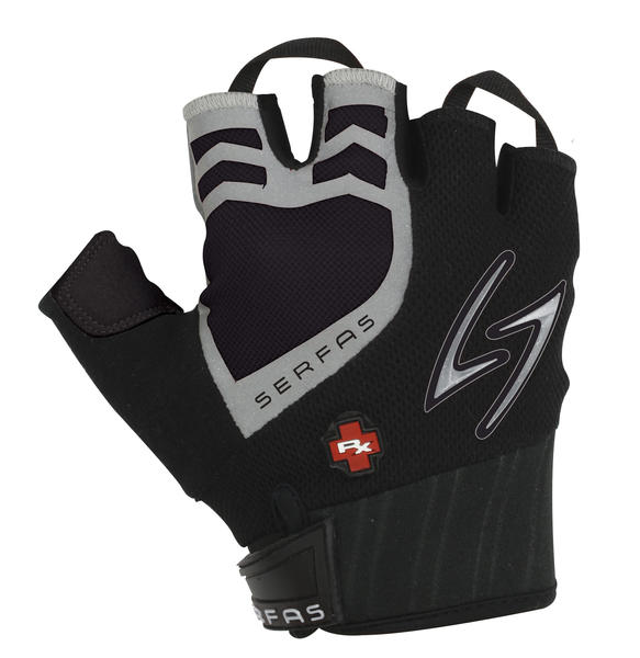 Serfas RX Short Finger Gloves Color: Black/Black