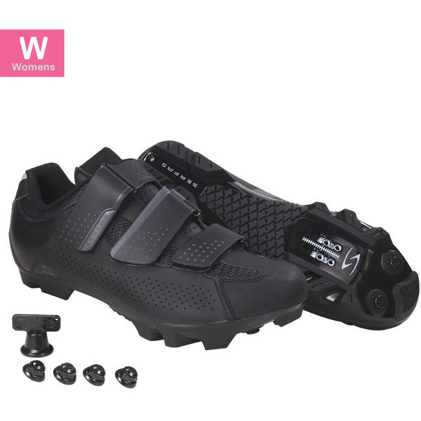 Serfas SWM-401B Women's Mountain Singletrack 3-Strap Color: Black