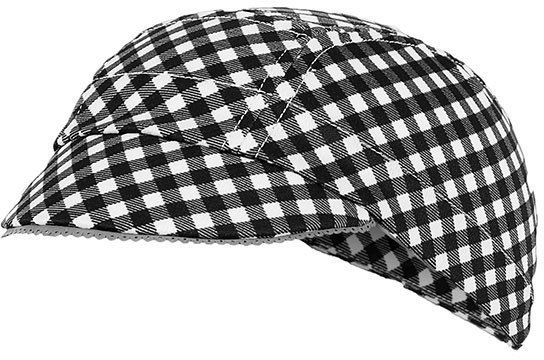 Shebeest Gingham Cyclists Femme Cap Color: Black