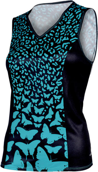 Shebeest Easy V Cheetafly Sleeveless Plus Jersey - Women's Color: Aquamarine