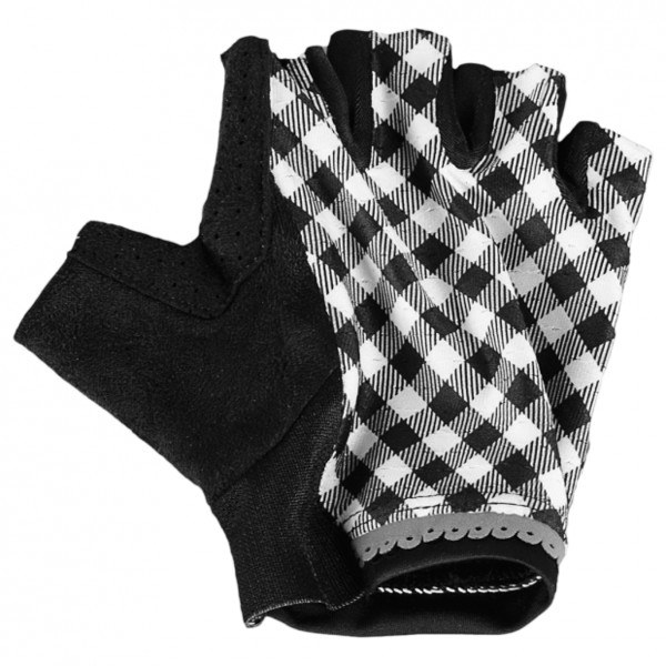Shebeest Short Finger Gingham Style Gloves