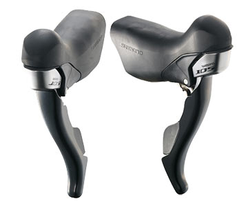 Shimano 105 Dual Control Levers (Double) Color: Black
