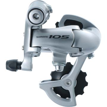 Shimano 105 Rear Derailleur <br> (Short Cage) Color: Silver