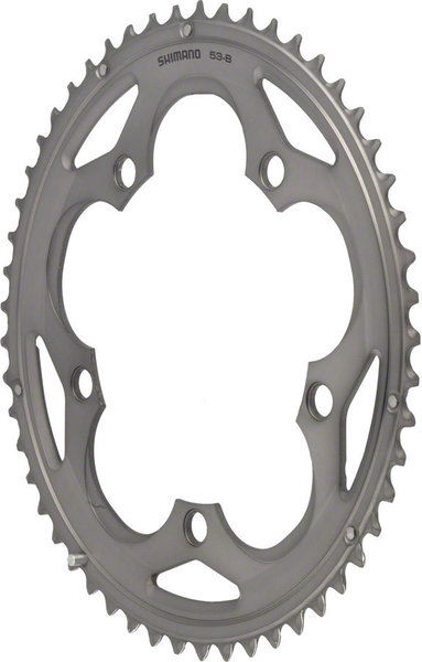 Shimano 105 5700 Double Chainring BCD | Color | Size | Speeds: 130mm | Silver | 52T | 10