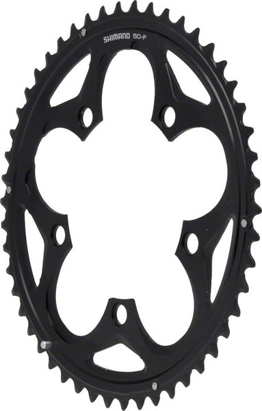 Shimano 105 5750 Double Chainring BCD | Color | Size | Speeds: 110mm | Black | 50T | 10