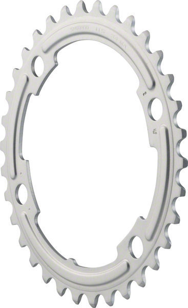 Shimano 105 5800 Chainring BCD | Color | Size: 110mm | Silver | 34T