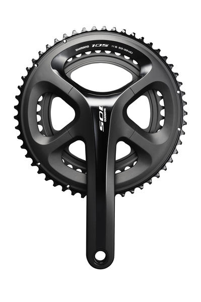 Shimano 105 Crankset Color: Black