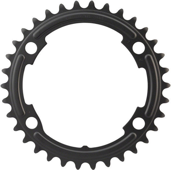Shimano 105 R7000 Chainring BCD | Color | Size | Speeds: 110mm Shimano Asymmetric | Black | 34T | 11