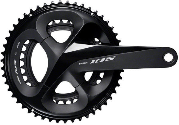 Shimano 105 R7000 Crankset Color: Black