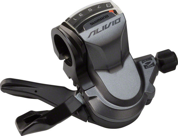 Shimano Alivio M4000 RAPIDFIRE PLUS Shift Lever Color | Model | Speeds: Silver | Right | 9-Speed