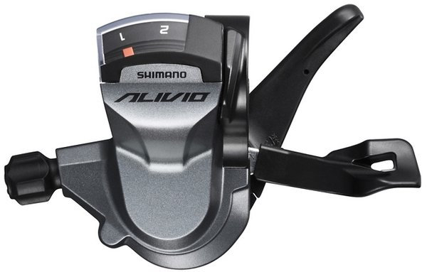 Shimano Alivio M4000 RAPIDFIRE PLUS Shift Lever Color | Model | Speeds: Silver | Left | 2-Speed